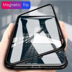 Tempered Glass Magnetic Adsorption Case for iPhone 7 8 -  - iphone-case