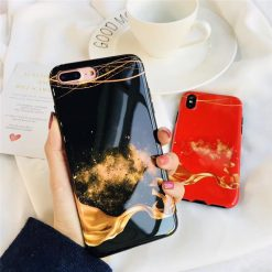 Starry Sky Flame Marble Case for iPhone 6 6S 8 Plus X -  - iphone-case
