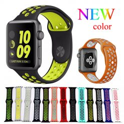Nike Sport Silicone Strap for Apple Watch Band 38mm 40mm 42mm 44mm iwatch 4/3/2/1 -  - iwatch-brands