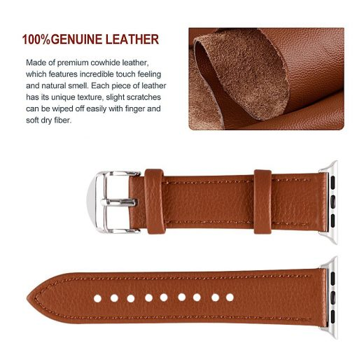 3 Color Leather Watchband for Apple Watch Band Series 3/2/1 -  - iwatch-brands