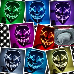 Halloween Mask LED Light Up Party Masks - Glow In Dark -  - home-garden