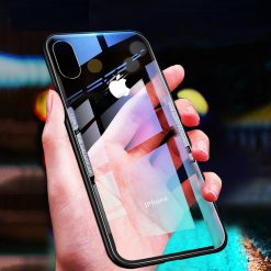 Luxury Clear Back Glass Cover For for iPhone XS Max XR X 10 8 7 Plus 6.5 Coque -  - iphone-case