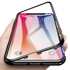 Essager Ultra Magnetic Adsorption Phone Case For iPhone X 10 8 7 6 6S S Plus Coque Luxury Metal Magnet Back Glass Cover Fundas -  - iphone-case