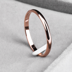 Titanium Steel Simple Design Ring for Woman -  - beauty