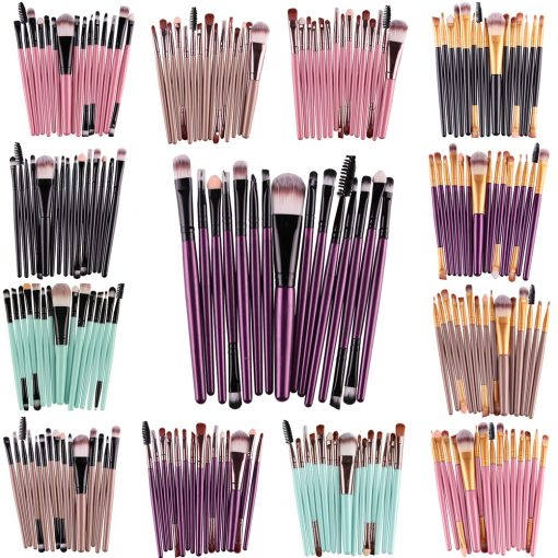 Set of 15 Makeup Brushes -  - beauty