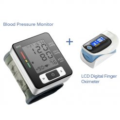 Digital Wrist Blood Pressure Monitor Portable Automatic Sphygmomanometer Blood Pressure Meter And OLED Digital Finger Oximeter -  - health-care