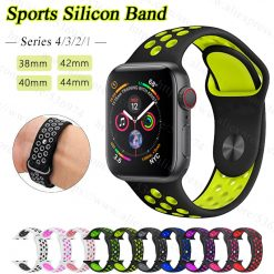 Breathable Silicone Sports Band for Nike Apple Watch 4 3 2 1 42MM 38MM rubber strap bands -  - iwatch-brands