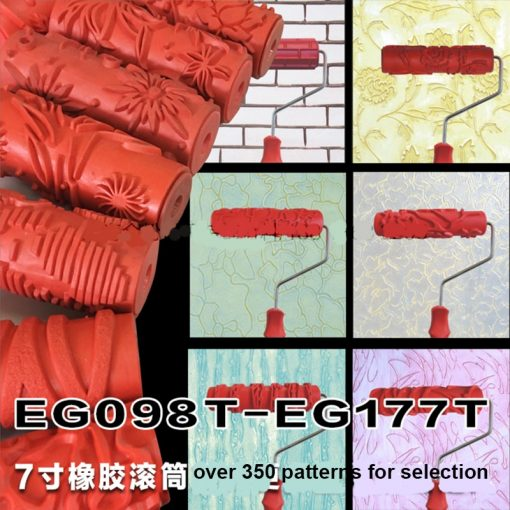 Decorative Paint Roller Pattern Embossed Texture Painting Tools for Wall -  - gadget