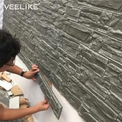 Waterproof Self adhesive 3D Wall Panels for Home Decoration -  - gadget