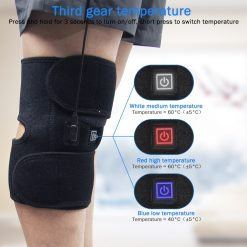 1pc Outdoor Cold Kneepad Electric Heating Knee Pads Heat Therapy Arthritis Pain Hot Compress Relief Support Protector -  - fitness