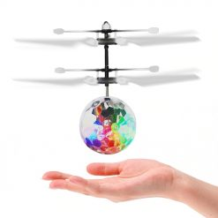 Inductive Diecast Hand Flying Colorful LED Ball Stress Relief Toy Vehicle Infrared Induction Flash Disco Light Up Toy Gift -  - toy