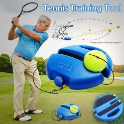 Portable Tennis Training Aids Tool With Elastic Rope -  - toy, fitness