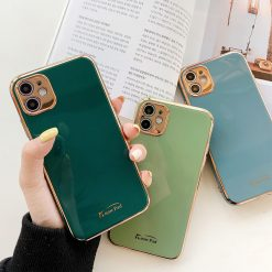 Shockproof Solid Color Camera Protection Bumper Phone Case For iPhone 11 11 Pro Max XR XS Max X 7 8 Plus -  - iphone-case
