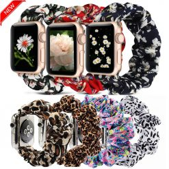 Scrunchie Elastic Watch Straps Watchband for Apple Watch Band Series 5 4 3 2 38mm 40mm 42mm 44mm for iwatch Bracelet 5 4 3 Gift -  - iwatch-brands