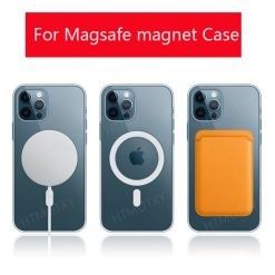 Original Clear Phone Case For iPhone 12 Pro Max 12 Mini Case Support For Magsafe Wireless Charging Luxury Transparent Back Cover -  - iphone-case